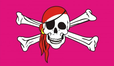 FLG6 Pink Pirate Flag