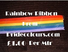 RIB01 Rainbow Ribbon Exclusive to PrideColours