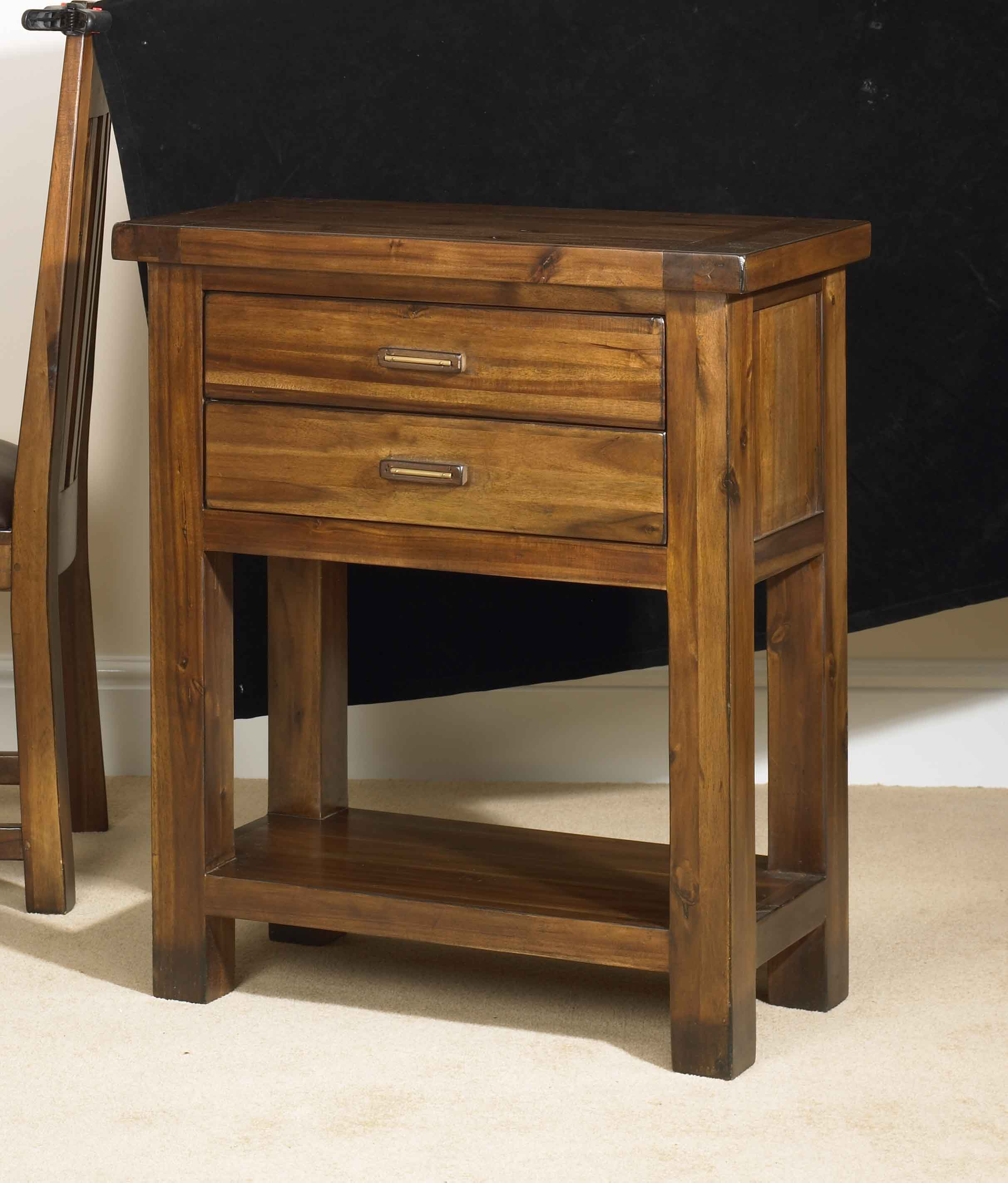Kember 2 drawer small console table living dining for Small console table with drawer