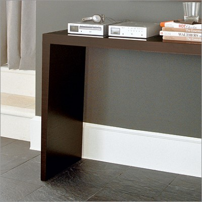 Calligaris console table wenge glass marble inspire interiors - Console extensible wenge ...