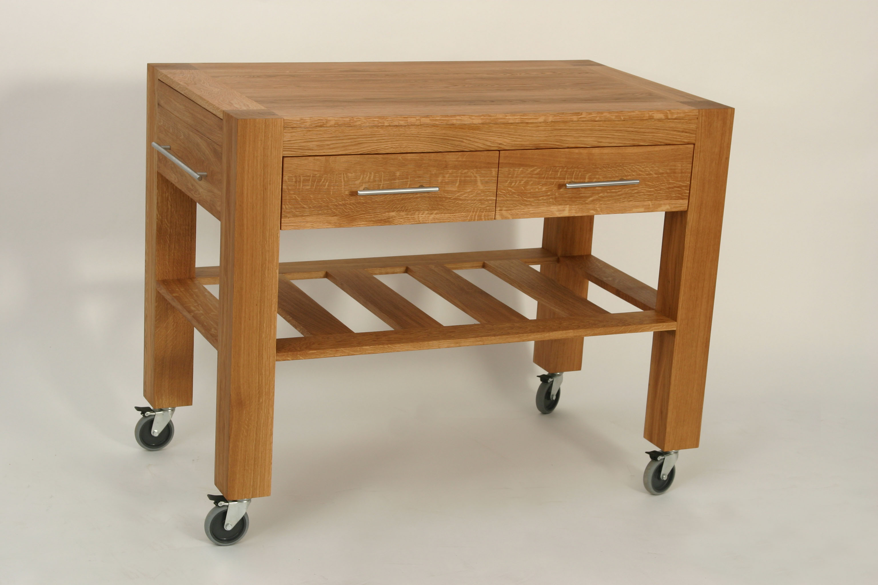 Modena console table with wheels 2 drawers 1 shelf for Sofa table on wheels