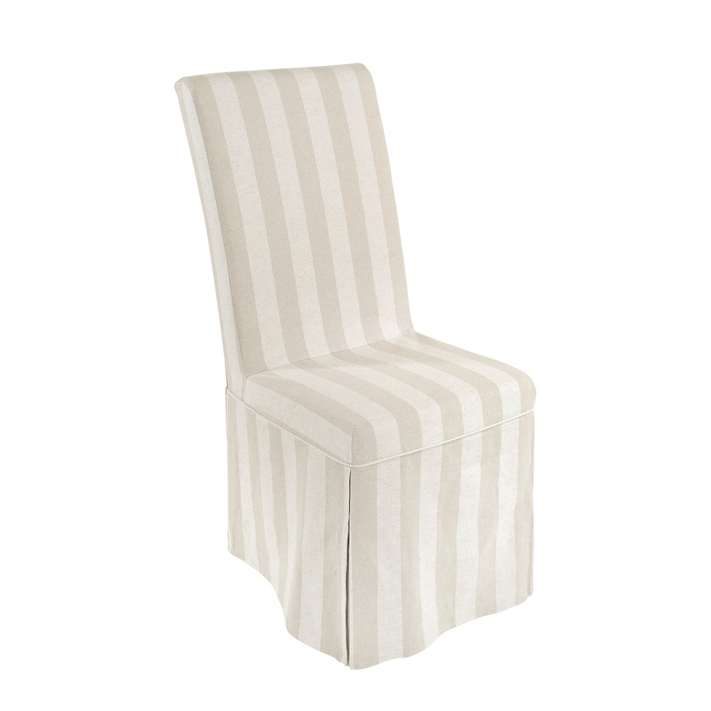 loose striped linen cover dining chair living dining inspire
