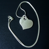 HAND~MADE PURE SILVER HEART
