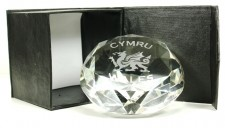 welsh dragon diamond paperweight