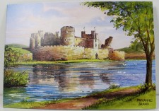 scenery of caerphilly castle