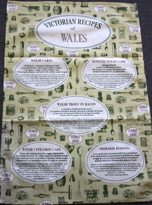 TET1 Victorian Recipes of Wales Tea Towel