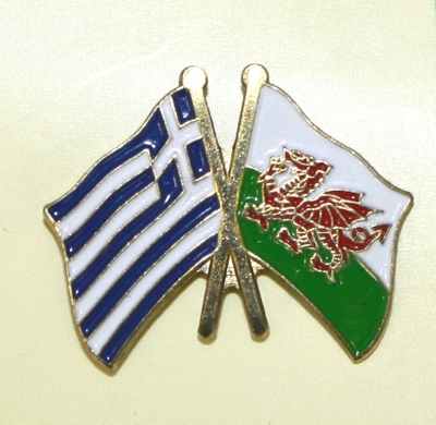 jshge Welsh and Greek Flag Pin