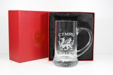 welsh dragon glass tankard