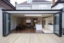 ANTHRACITE GREY BI-fold doors 3 door outward stacking