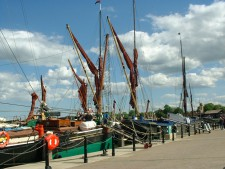 Thames Sailing barges at Maldon