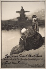 Belgian Canal boat poster