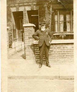 William Bannister outside his home in Exmouth Road