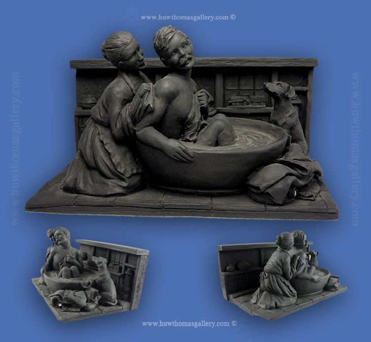 Welsh Coal Figure Miner's Bath time