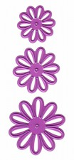 Joy Crafts Cutting & Embossing Stencil Stencil 3x Flower nr.1