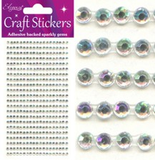 Craft Stickers 3mm 418 gems Iridescent