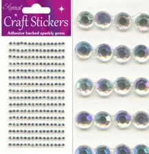 Craft Stickers 4mm 240 gems Iridescent