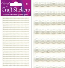 Craft Stickers 3mm x 418 Pearls Ivory