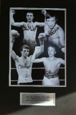 Britsh Boxing Legends Minter, Buchanan, Magri And Green.