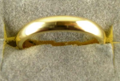 CT3 Classic Plain Court Wedding Ring