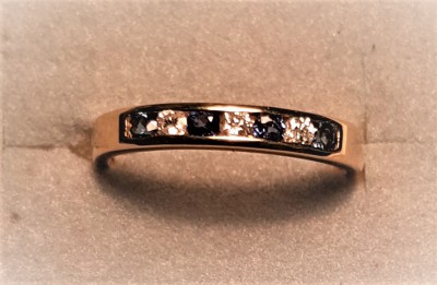 1464SD10 Sapphire and Diamond Eternity Ring