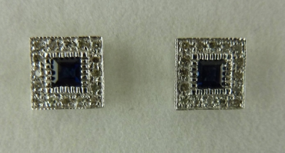 SVE10SB Sapphire and Diamond Earrings