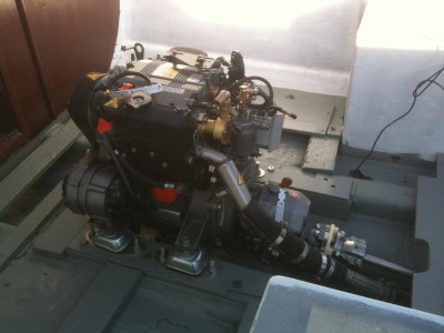 08 Engine Installation on Motor boat
