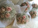 Vintage Flowers Bridesmaids Blush Rose