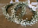Flower Girls gypsophilia hair Circlet headband