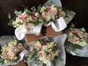 Bridesmaids Handtied country garden bouquets