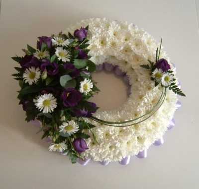 FTS1 Purple and White Based Wreath