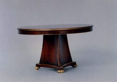 F010 F10 Regency Table with Tricorn Base