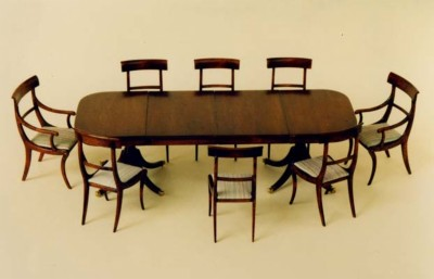 F013 F13 8 Seater Table with Twin Pedestals