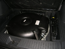 Doughnut Stako Tank in Spare Wheel Well