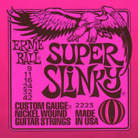 EB SS Ernie Ball electric guitar strings Super Slinky