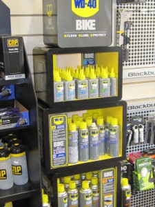 Good range of bike cleaner dry and wet lube