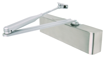 silver. EuroSpec dcf2003sv Overhead Door Closer Fixed Size 3 C//W Fig 66 Bracket