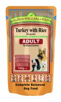 James Wellbeloved Adult Dog Turkey Pouch