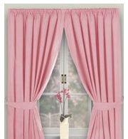 Virgo Pink Blackout Curtains 90 X 54