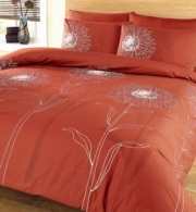 Sunflower Terracotta Duvet Cover Set King Duvet Covers
