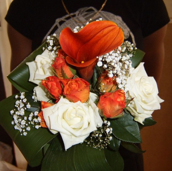 Maid Of Honor Bouquet Orange £55