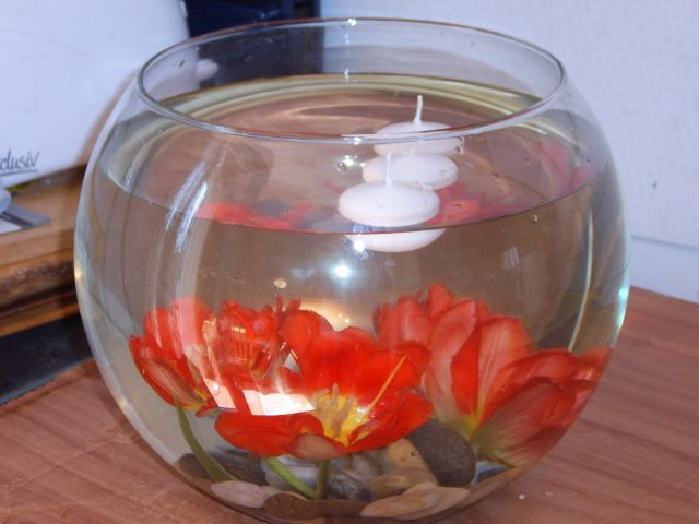 Large Fish Bowl Vase