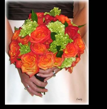 Flame Orange Rose Bouquet
