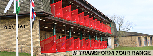 Celtic Manor driving range netted bay dividers