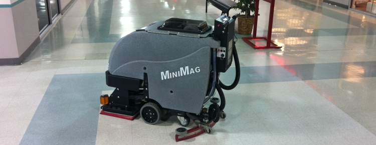 TomCat commercial scrubber dryer for schools and colleges