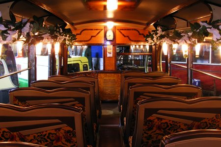 interior of 1947 Albion coach