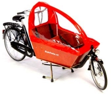 Long wheelbase Bakfiets with Child Tent
