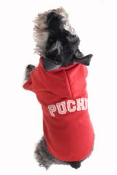 26 red cuddles dog hoodie