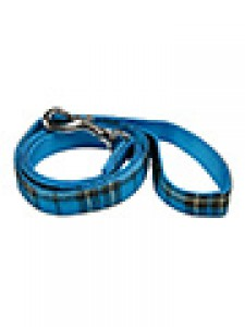 207 Urban pup Blue Tartan fabric lead