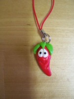 Hot Red Chilli Phone Charm