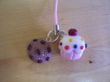Cookie & Cupcake Phone Charms